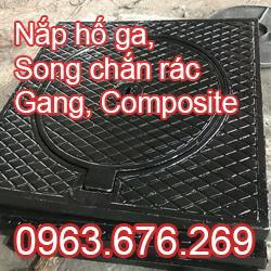 Nắp ga, song chắn rác Gang, Composite